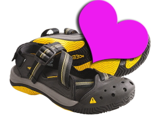 My heart belongs to you, O breathable footwear
